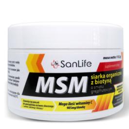 MSM Siarka organiczna z biotyną o smaku grejpfrutowym